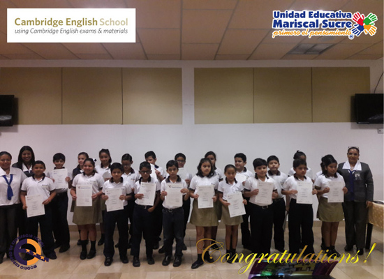 Entrega de certificados Cambridge